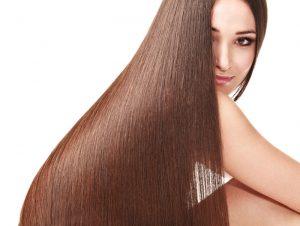 cabello largo y sedoso