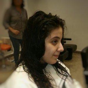 corte de dama cabello corto antes