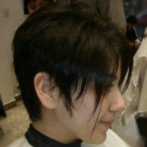 corte de dama cabello corto después