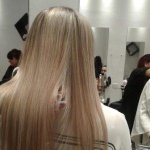 corte de pelo y tratamiento para el cabello