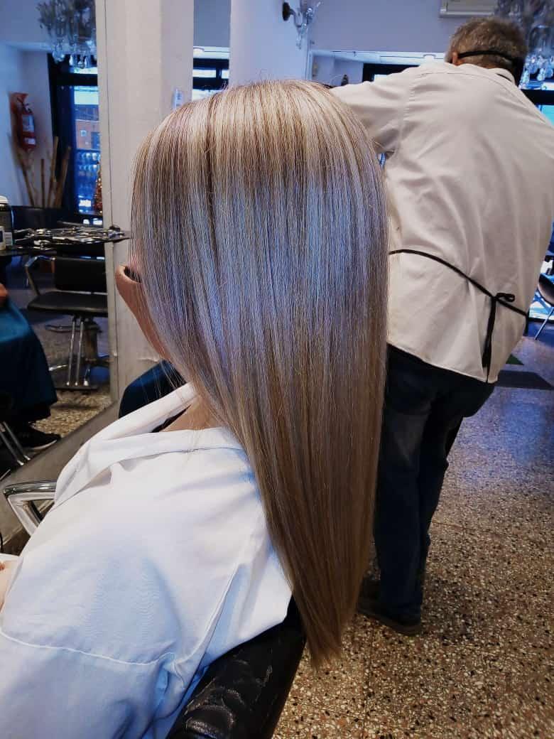 Corte de cabello y alisado