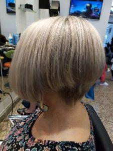 Elegante corte de cabello nujer