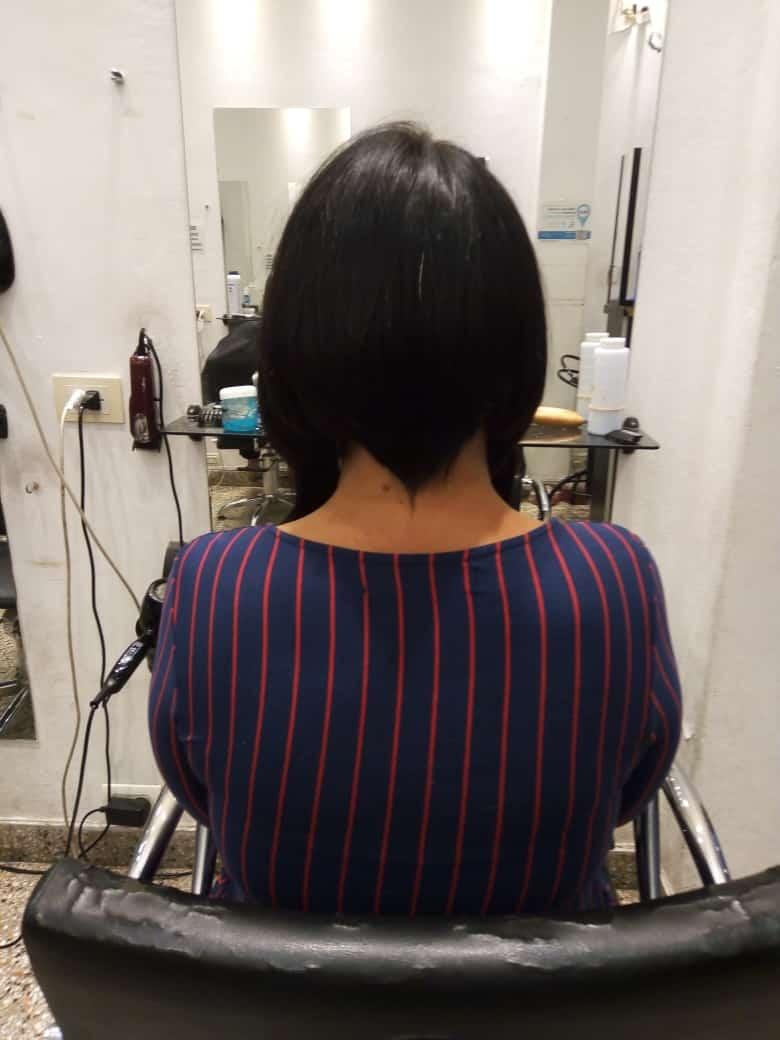 corte de cabello corto elegante-atrás